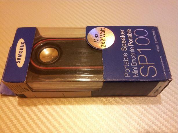 Boxa portabila samsung SP100 2X2 Watt,mufa 3,5, ca noua in cutie,2 bat
