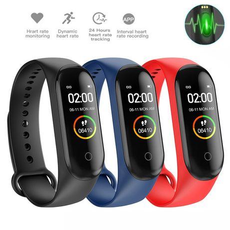 НОВА! 3 цвята, Смарт гривна часовник Фитнес Smart Band Watch Bluetoot