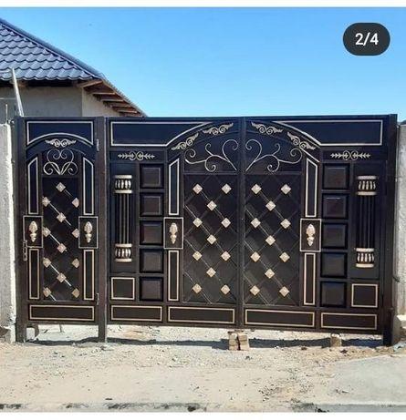 Ворота и двери, Решётка и Навес.