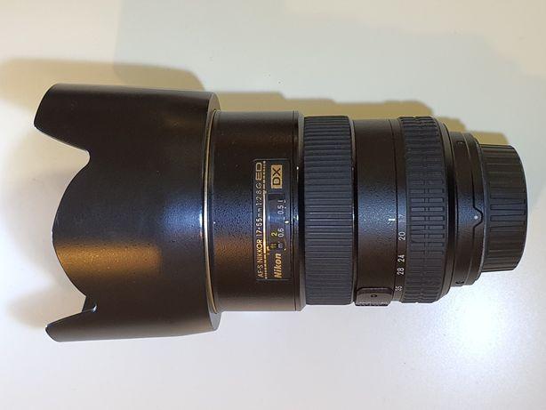 Obiectiv foto Nikon 17-55 DX f2.8 G ED vand sau schimb cu Sony gama Fx