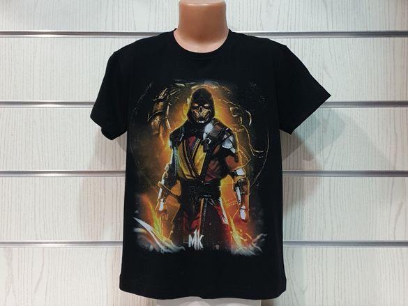 Нова детска тениска с дигитален печат Mortal Kombat, MK, видеоигра
