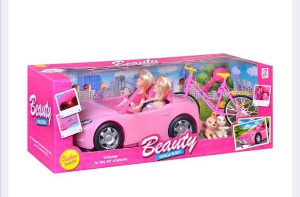 Детска кукли  кукла детски с автомобил и колело 2бр