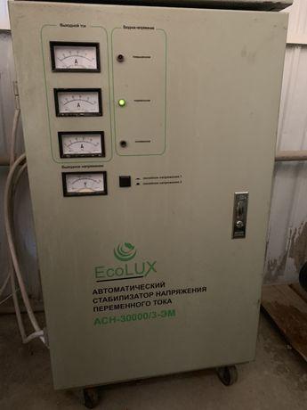 Продается стабилизатор напряжения трехфазный 30 кВт