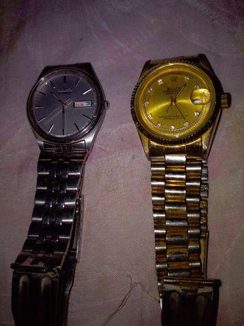 2 Ceasuri, 1 Seiko și 1 Rolex.Stare bună. 100 lei bucata.