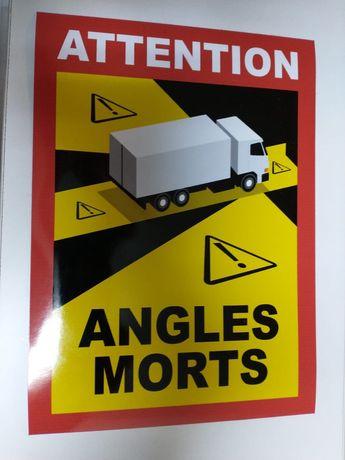 Sticker Autocolant Unghi Mort, Angles Morts