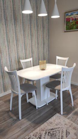 Стол со стульями (раздвижной 120*80/165*80 см)