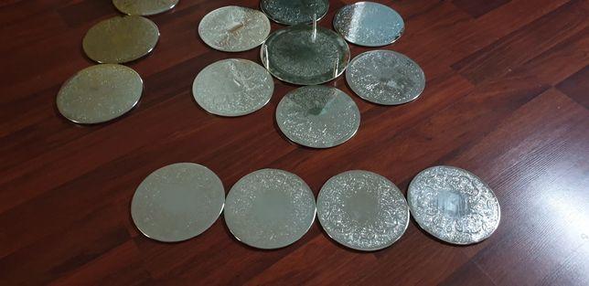 Suport farfurie argintat eleganta
