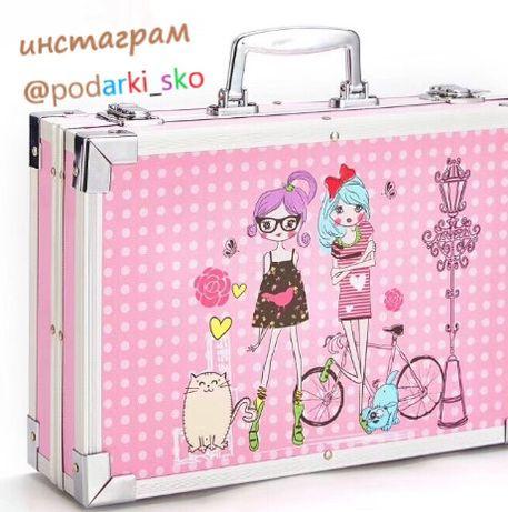 Набор для рисования 145 предметов (алюминевый чемоданчик)