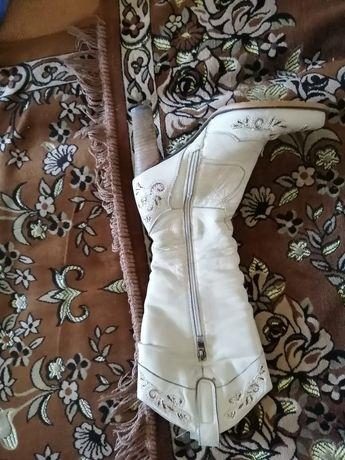 Продам сапоги зимние кожаные