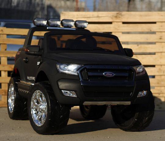 Masinuta electrica pentru 2 copii Ford Ranger 4x4 cu LCD #Negru Matt