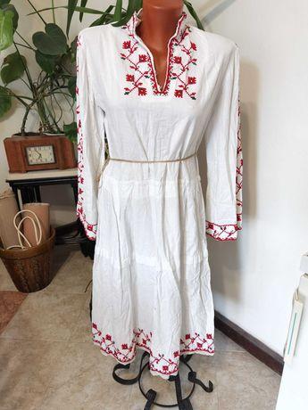 Старинна Хърцойска Риза Рокля от Народна Носия