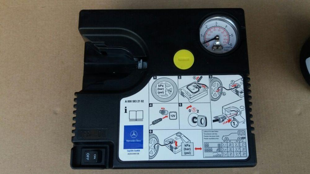 Compresor auto umflat roti 12 V original MERCEDES Utilizat Bucuresti - imagine 1