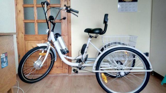 Tricicleta electrica asistat adulti 24 toli 6viteze unisex tip shopper