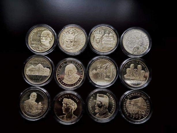 Set 12 monede comemorative 50 bani 2010 - 2019 Romania