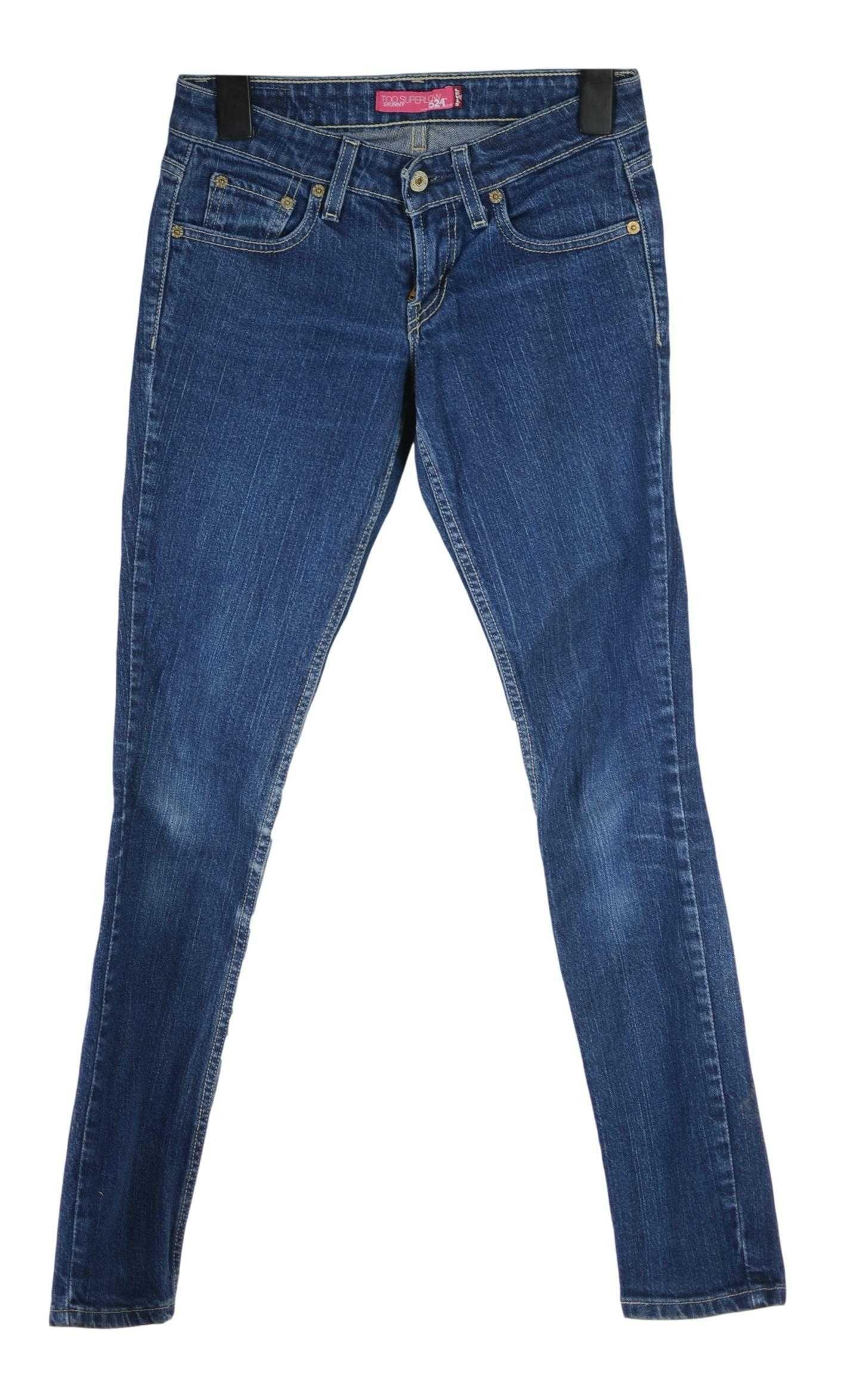 Blugi Dama Levi's 524 Skinny Slim Low marimea W26 L30 Bumbac AO68