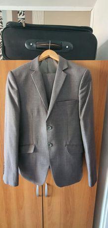 Costum gri elegant bonus cravate la alegere