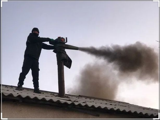 Вакумная чистка дымохода с. Красный Яр.