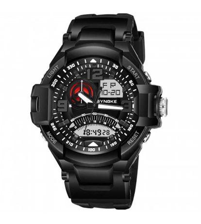 Спортен водоустойчив и противоударен часовник SYNOKE 67876 - Черен