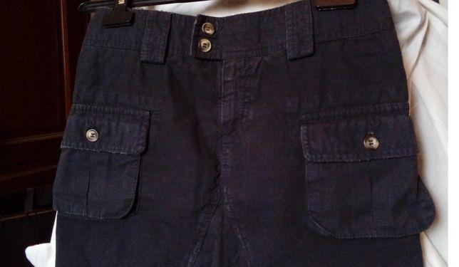 fusta tip cargo, mini, Stefanel, noua, eticheta, 38/S, bleumarin