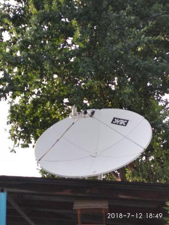 спутниковая тарелка и рессиверы