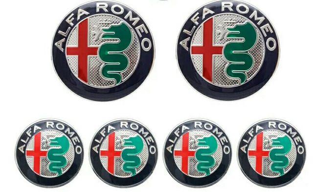 ALFA ROMEO - Embleme alfa -Set de 6 embleme