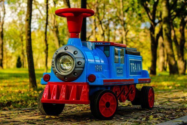Trenulet electric pentru 2 copii Hollicy SX1919 cu Bluetooth #Blue