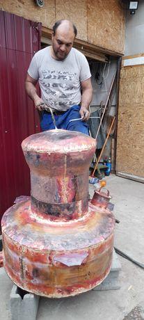 Vand cazan de facut țuica din cupru alimentar are 200 litri cu grosime