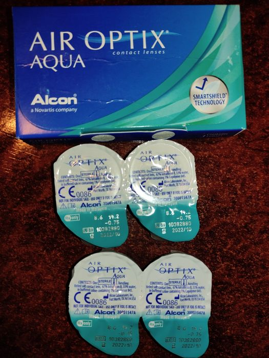 Lentile de contact Air Optix Aqua (dioptrii -0.75) Hunedoara - imagine 1
