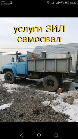 отсев,щебень,сникерс,песок,камни с доставкой по Алматы, а/м Зил