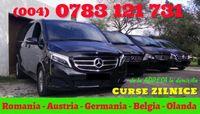 Plecari ZILNICE transport persoane Romania Austria Germania la adresa