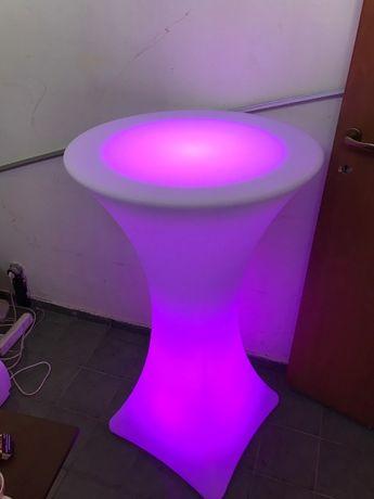 LED PVC мебели под наем, светещи коктейлни маси, ЛЕД светещи барове