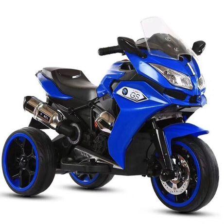 Motocicleta electrica pentru copii BJ1200 2x30W STANDARD #Albastru