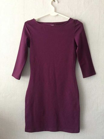Платье женское темно-лиловое oodji ultra размер xxs НОВОЕ