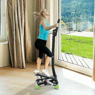 HomCom Stepper Profesional Fitness cu Manubriu si Corzi, 40x48x118cm