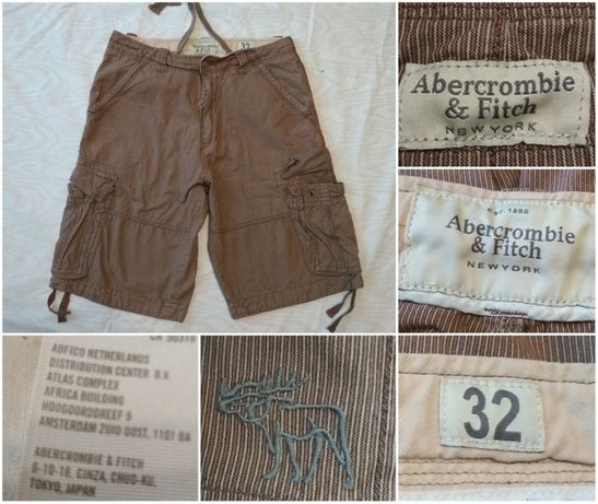 Pantaloni ABERCROMBIE AND FITCH 31 scurti bermude casual cargo pants