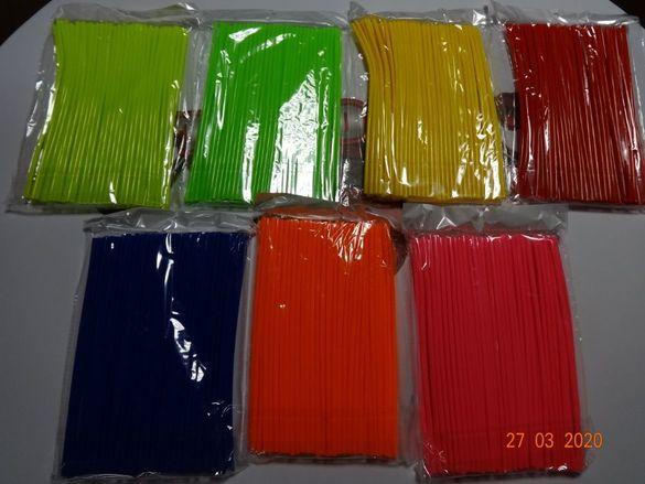Цветни мото сламки за спици декорация капла гуми джанта мото мотор