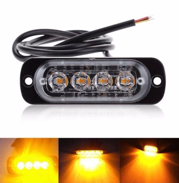 Set Lampa Stroboscopica 4 LED-uri Auto Agabaritice Gabarit Avertizare Bucuresti - imagine 1