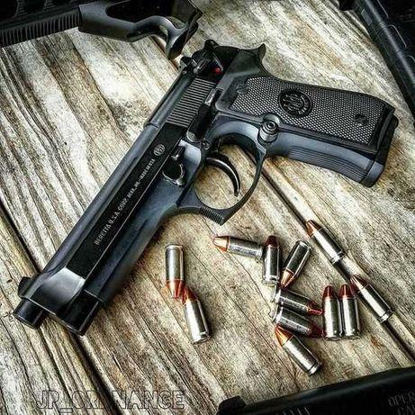 Pistol Airsoft BERETTA M9=>FullMetal Upgrade 4,7jouli Co2 6mm