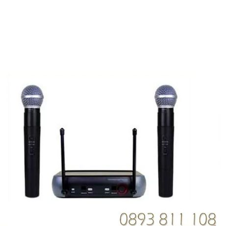 WNGR -2 броя Професионални Безжични Микрофони -wireless + майка- прием