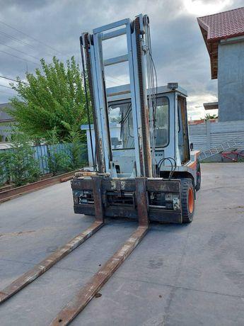 Motostivuitor Stivuitor diesel FIAT OM 6t/4.5m translatie, roti pline