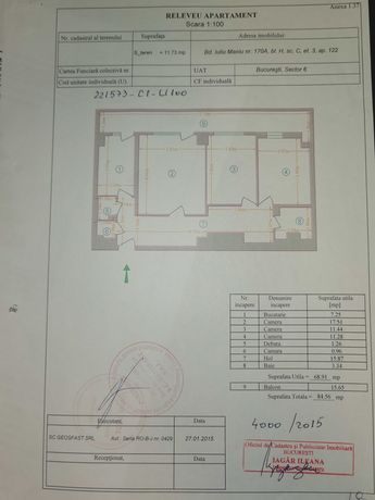 vand apartament 3 camere decomandat et3/10 iuliu maniu apusului,liber