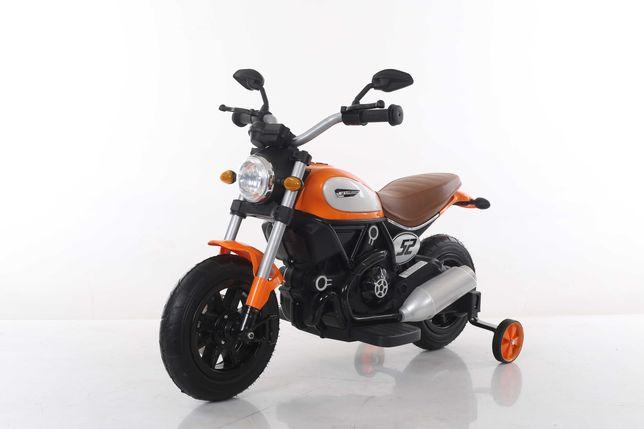 Motocicleta electrica pentru copii BT307 60W, ROTI Gonflabile #Orange