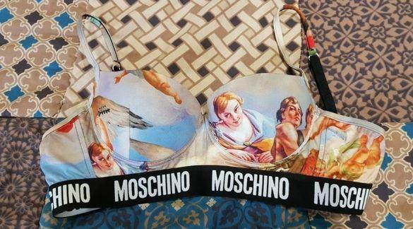 Цели бански,Комплект Moschino и италиянски бански с кристали