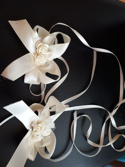 Сватбена украса за свещи 1бр 7лв