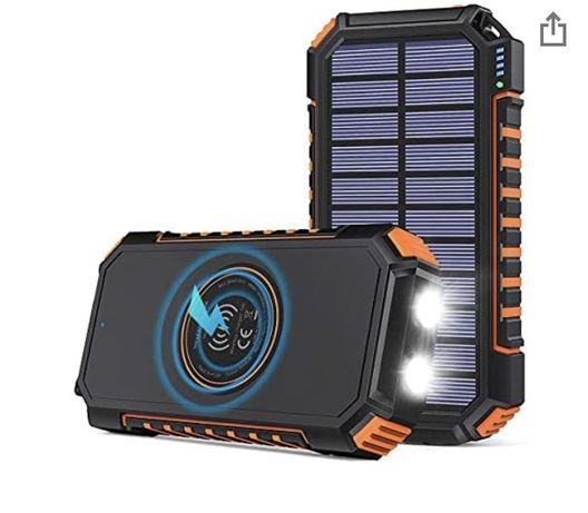 Hilucky -Power Bank solar cu incarcare wireless 26800 mAh