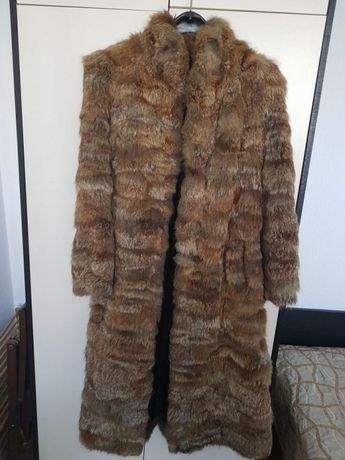 Дамско палто от сребърна лисица