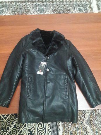 Норка жағалы кожаный куртка
