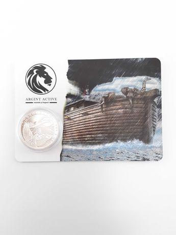 Moneda argint 999 lingou + blister card, Arca lui Noe 2021 , 31 grame
