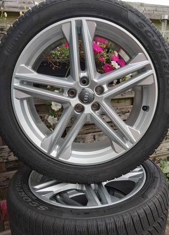 """Jante originale Audi Q5 """"20 cu anvelope  Pirelli iarnă 255/45R20"""