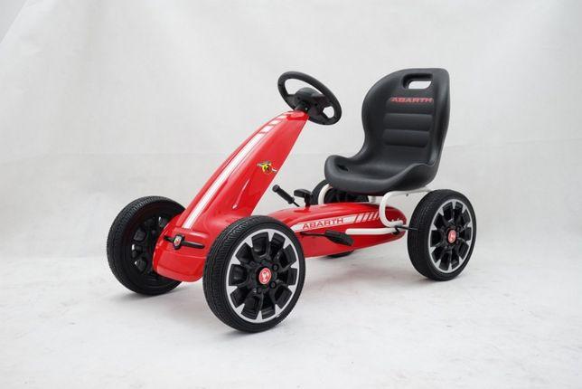 Kart cu pedale pentru copii FIAT500 ABARTH (9388) rosu